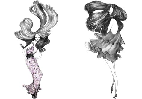 fashion illustration hair hair on the brain 187 illustrations