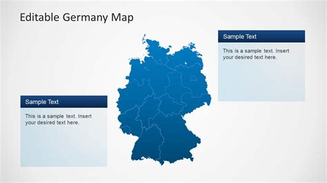 Editable Germany Map Template For Powerpoint Slidemodel Powerpoint Map Template