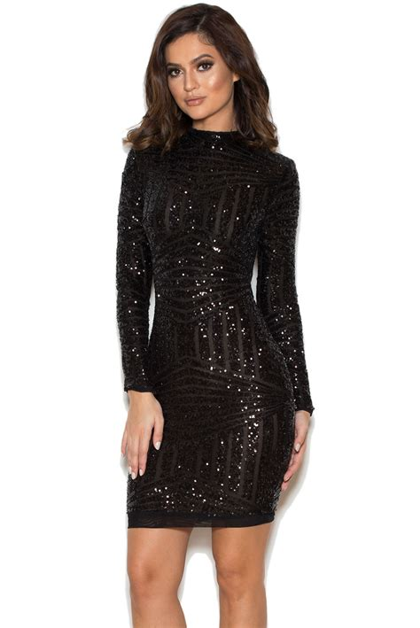 clothing bodycon dresses zouita black embellished