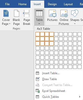 how to create and use formulas in tables in word
