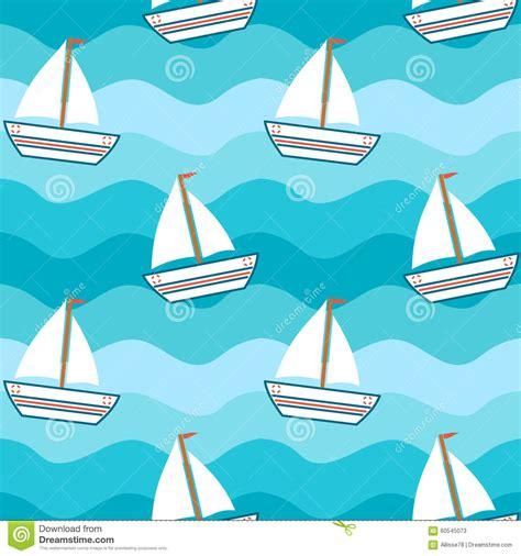 cartoon boat background cartoon cute lovely boat in the sea seamless pattern