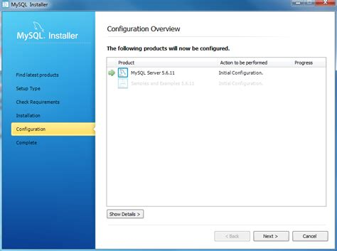 xp configure mysql database install mysql on windows using mysql installer