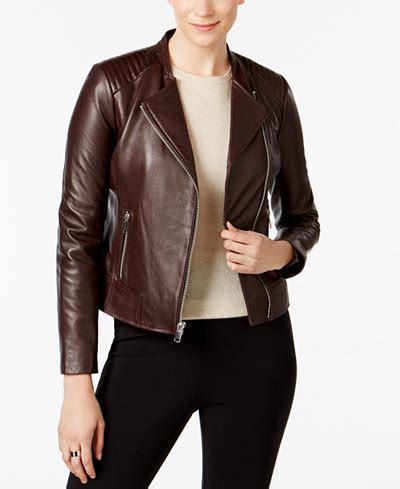 Mc New York Jaket marc new york selena leather moto jacket coats