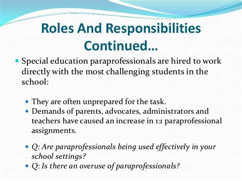 paraprofessional is it currently best practice