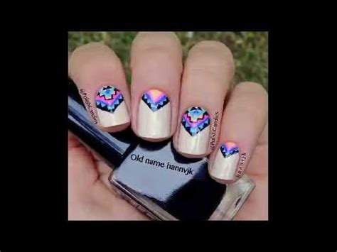imagenes de uñas decoradas solo con esmalte u 241 as decoradas con esmalte sencillas youtube