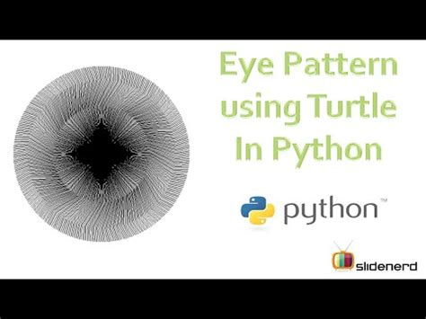 tutorial python graphics 13 turtle graphics drawing eye pattern