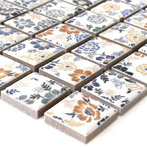 fliese pusteblume keramik mosaik fliesen weiss flower ebay