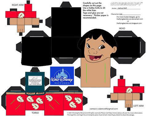 Stitch Papercraft - dis8 lilo cubee by theflyingdachshund on deviantart