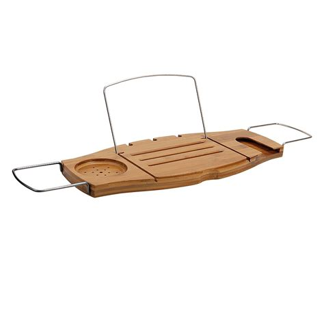 bathtub reading tray living giving umbra aquala bamboo bathtub caddy