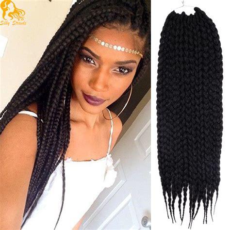 how to braid in prebraided hair aliexpress com buy 22inches box braids hair extensions