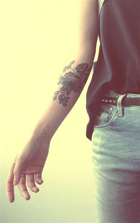 nice tattoo placement rose tattoo forearm tattoos pinterest tattoo