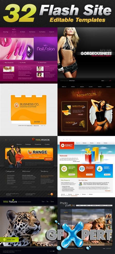 free flash templates for website to download free templatemonster 32 flash website editable templates
