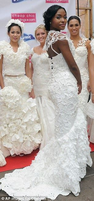 Be Discovered In Glams Design A Dress Contest by Annual Toilet Paper Wedding Dress Contest Held In New York