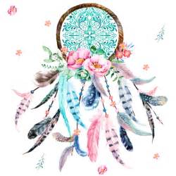 8 quot pink amp aqua dreamcatcher fabric shopcabin spoonflower