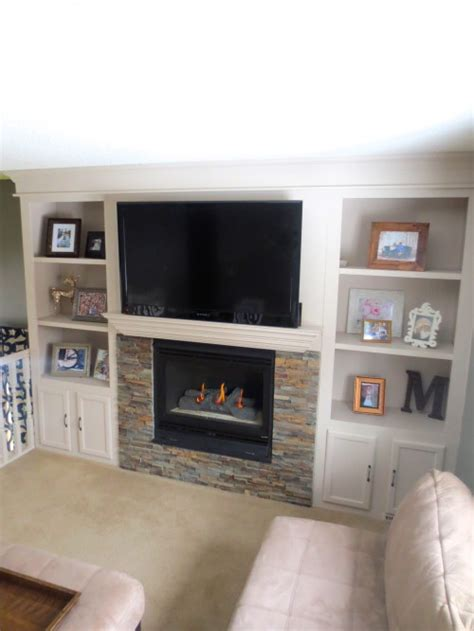Built In Shelves Around Fireplace by Remodelaholic Fireplace Makeover With Built In Shelves