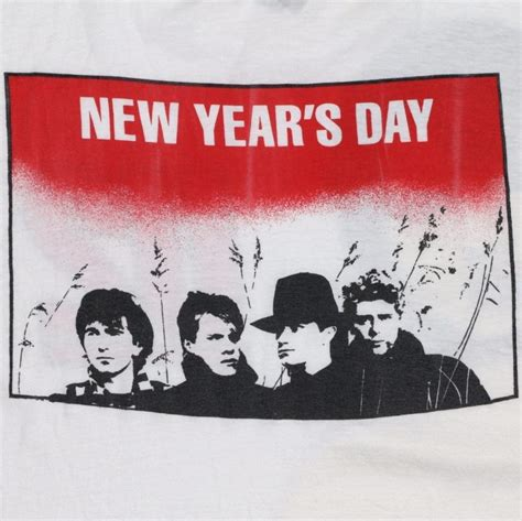 u2 new years day 2015 1980s u2 new years day shirt wyco vintage