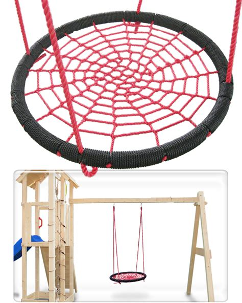 round swing nest swing children play round 95cm diameter durable rope