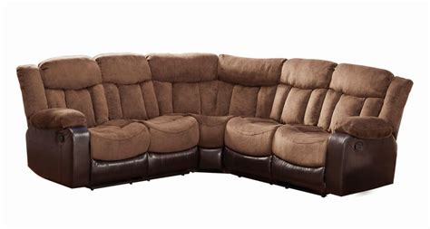 Leather Sofa Sectional Recliner Furniture Faux Brown Leather Reclining Sectional Sofa That Was Made For Three With Sleeper