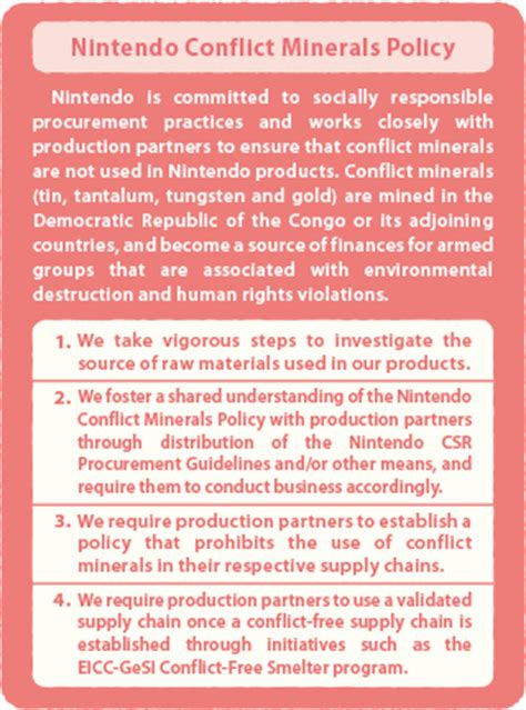 conflict minerals policy template csr report 2014 feature 2 csr procurement with