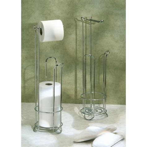 Bathroom Tissue Storage Classic Chrome Toilet Paper Tp Holder Tissue Stand Bathroom Storage Organizer Ebay