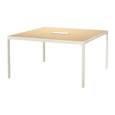 Ikea Bekant Conference Table Bekant Conference Table Birch Veneer White Ikea