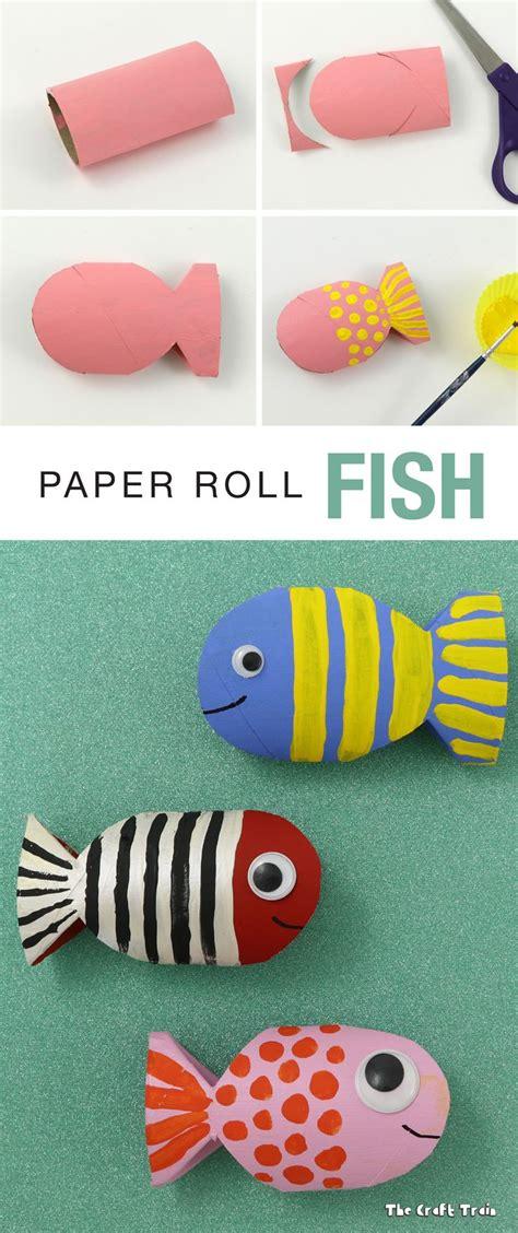 Paper Rolling Craft - paper roll fish recycling craft f 246 rskola barn och f 246 r barn