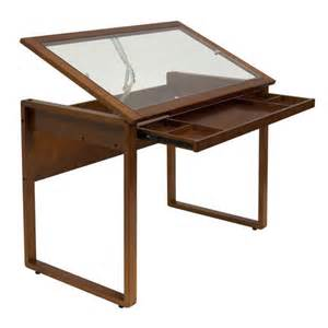 Glass Top Drafting Table Ponderosa Glass Top Drafting Table By Studio Design Buy Now