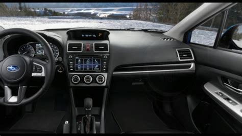 subaru crosstrek 2017 interior 2017 subaru crosstrek interior youtube