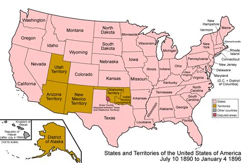 us map showing wyoming 088 states and territories of the united states of america