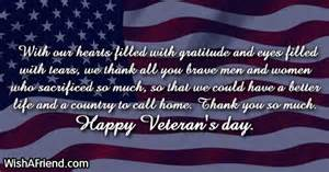 with our hearts filled with veteran s day message