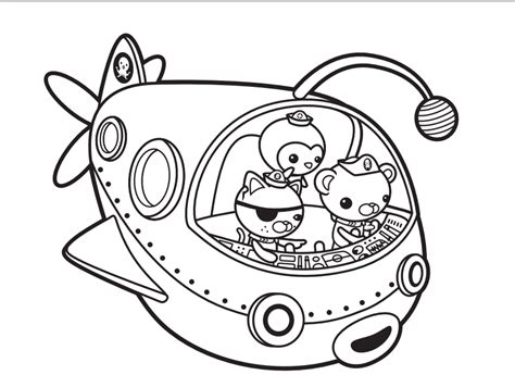 octonaut coloring pages coloring home