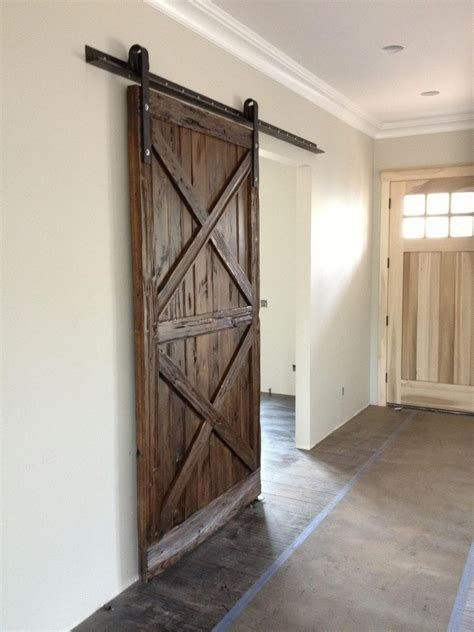 Barn Door Wood X Pattern Wood Sliding Barn Door Porter Barn Wood