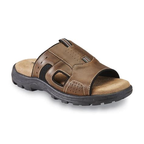 kmart mens sandals thom mcan s silas slide sandal brown shop your way