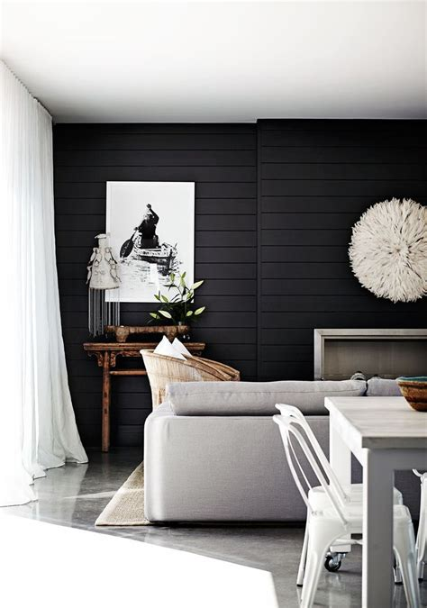 dark feature wall bedroom weatherboard home with wow factor homes to love