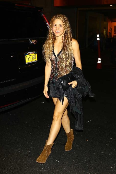 Sakira Blouse shakira in a floral blouse stepped out for dinner at zuma