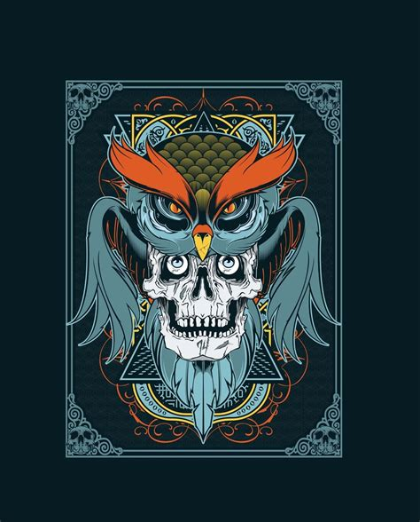 typography tshirt design tutorial adobe illustrator photoshop tutorial t shirt design in illustrator using owl and skull vector