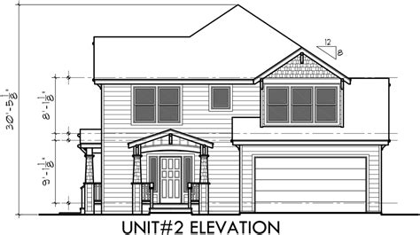 Corner Lot Duplex Plans by Duplex House Plans Corner Lot Duplex House Plans D 548