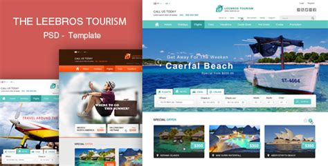 the booking travel psd template themeforest