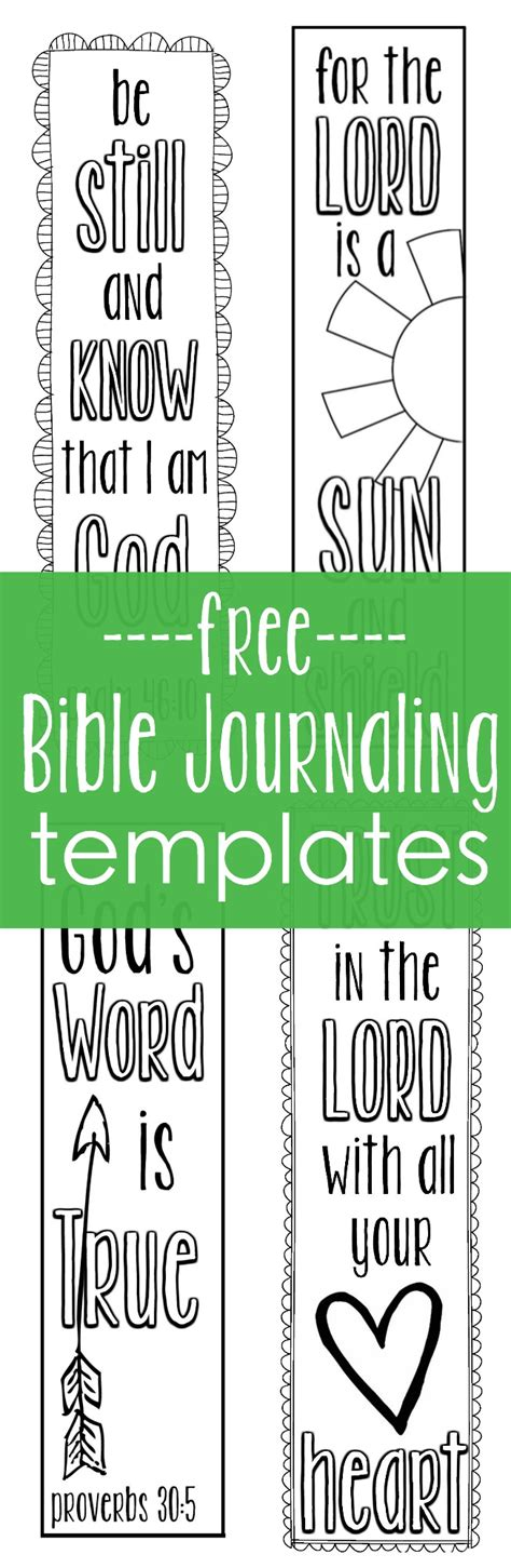 Free Bible Journaling Templates Bible Journaling Templates Written Reality