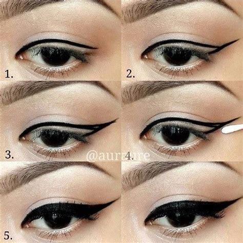 tutorial applying eyeliner winged eyeliner tutorial learn how to apply winged eyeliner