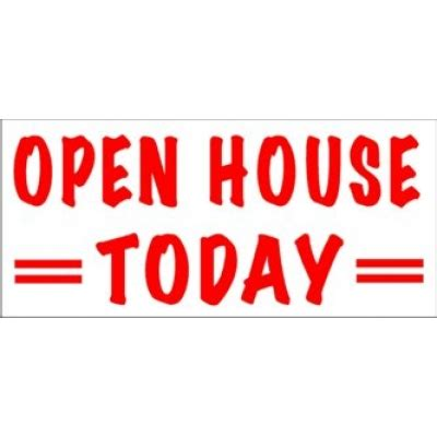 open house today open house today banner