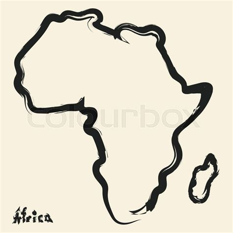 draw an africa map doodle drawing africa continent stock vector colourbox