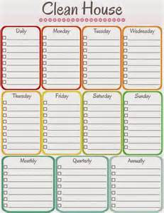 amy s notebook 5 printable cleaning schedules