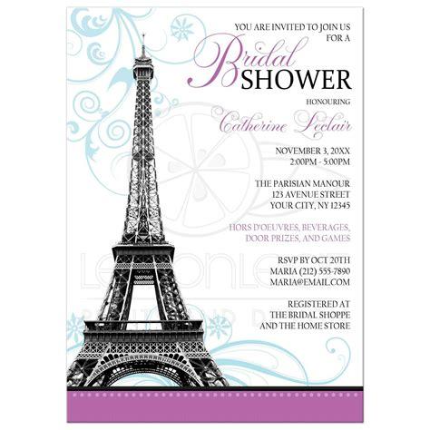 eiffel tower wedding shower invitations bridal shower invitations modern eiffel tower parisian