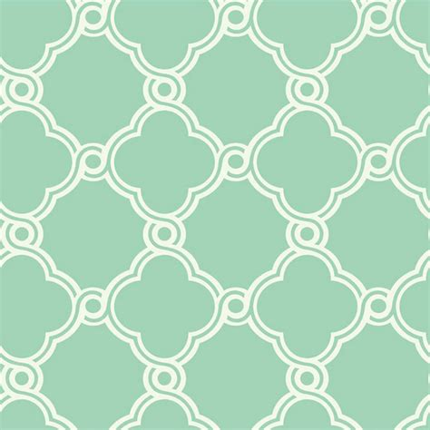 Preppy Decorative Pillows Fretwork Trellis Wallpaper Mint Green White Double Roll