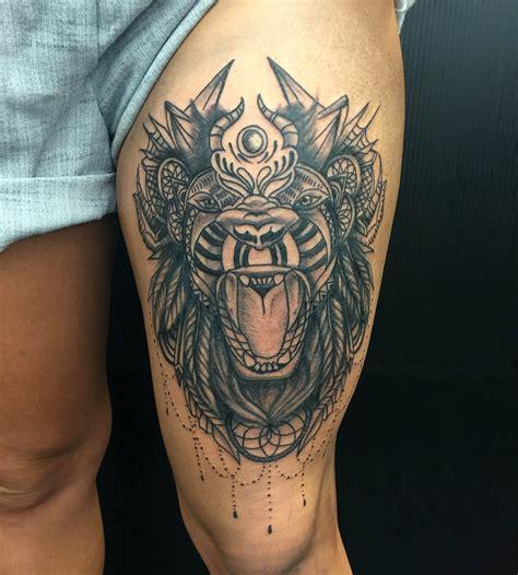 lion mandala tattoo primitive perth artist primitive