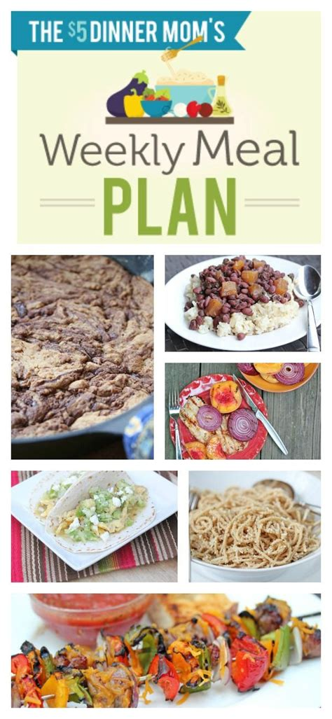 printable recipes for dinner weekly meal plan with free printable grocery list week