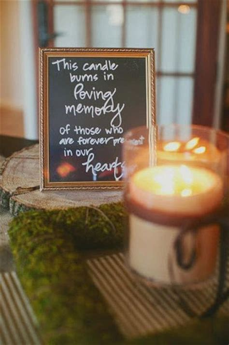 we light this candle in memory of 25 best ideas about wedding memory table on