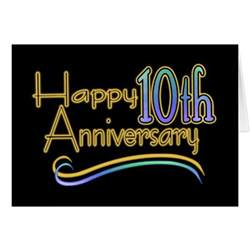 happy 10th anniversary greeting card zazzle