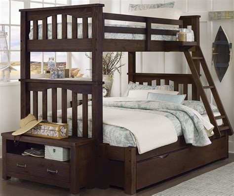 twin full bunk bed with trundle highlands harper espresso twin over full bunk bed with trundle 11055nt ne kids